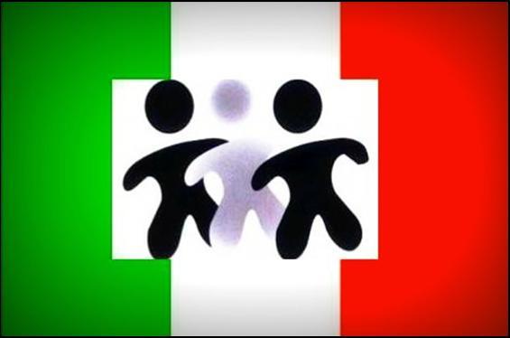 Bandiera-italianaconbamnin