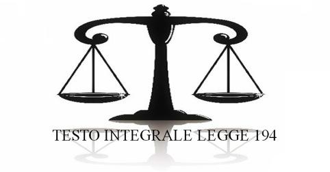 TESTO INTEGRALE LEGGE 194