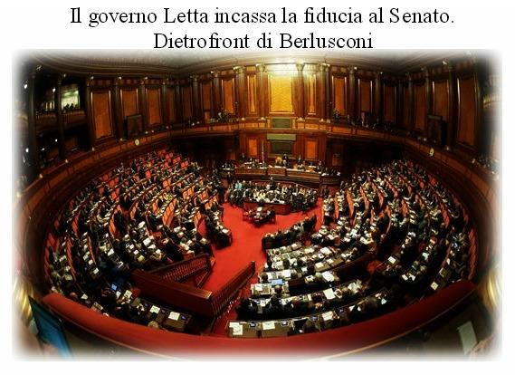 Letta ottiene la fiducia. Il dietrofront di Berlusconi