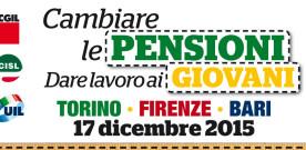 Il 17 dicembre gli attivi interregionali dei quadri e delegati di Cgil-Cisl-Uil