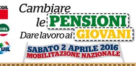 Il 2 aprile mobilitazione nazionale Cgil, Cisl e Uil