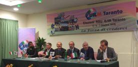 Barbagallo premia i delegati Uilm dell'Ilva per la vittoria nelle elezioni delle RSU